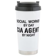 Social Workder CIA Agent Travel Mug