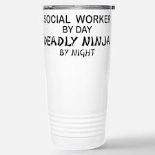 Social Worker Deadly Ninja Travel Mug
