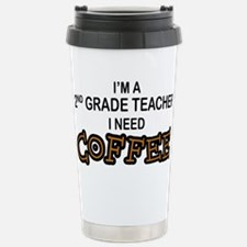 2nd Grade Teacher Need Coffee Stainless Steel Trav