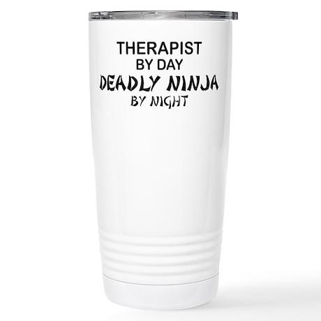 Therapist Deadly Ninja Stainless Steel Travel Mug