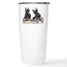 Lilac Scottish Terriers Travel Mug