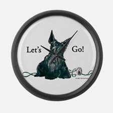 Let's Go Scotty!!! Large Wall Clock