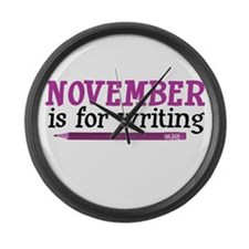November is for Writing Large Wall Clock