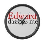 Edward Dazzles Me Large Wall Clock