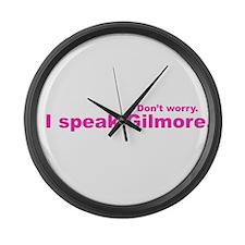 I Speak Gilmore Large Wall Clock