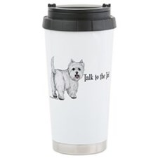 Westie Talk to the Tail Travel Mug