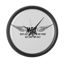 Max Has a Voice in Her Head Large Wall Clock