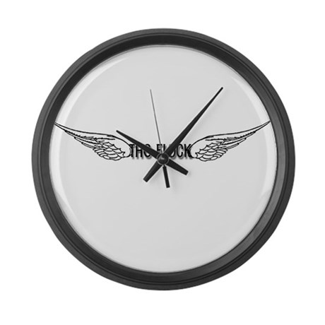 The Flock Large Wall Clock