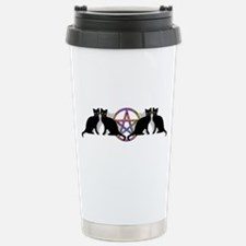 Black cat magic witch Thermos Mug