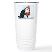 Scottie & Westie Snow Dogs Travel Mug