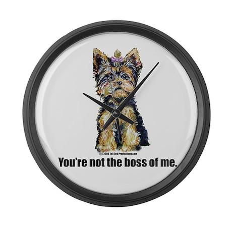 Yorkshire Terrier - Yorkie Bo Large Wall Clock