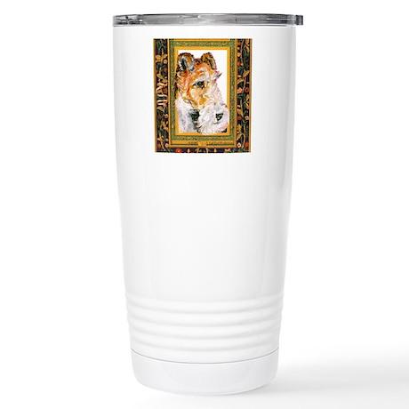 Vintage Fox Terrier Stainless Steel Travel Mug