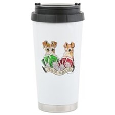 Fox Terrier Poker Buddies Travel Mug