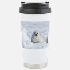 Harp Seal Stainless Steel Travel Mug