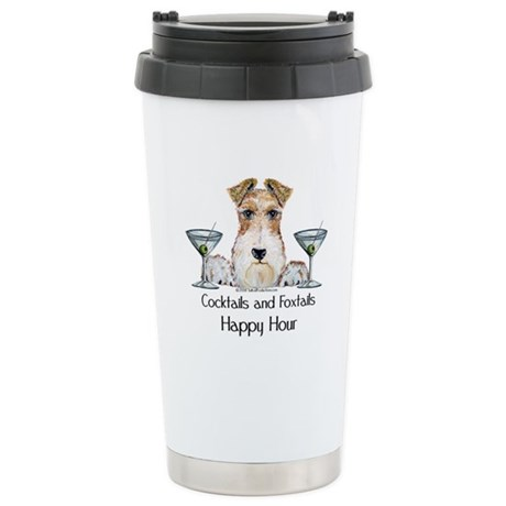 Wire Fox Terrier Happy Hour Stainless Steel Travel