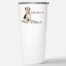 Wire Fox Terrier Dog Walk Travel Mug