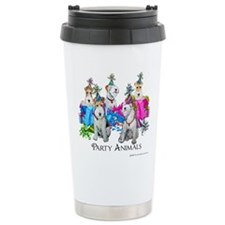 Fox Terrier Party Animals Travel Mug
