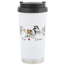 Playful Fox Terrier Travel Mug