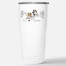 Playful Fox Terrier Travel Mug