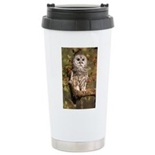 Barred Owl Digital Art Travel Coffee Mug