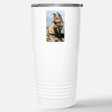 Cross Fox Digital Art Stainless Steel Travel Mug