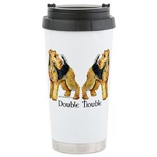 Airedale Terrier Trouble Travel Mug