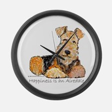 Airedale Happiness Large Wall Clock