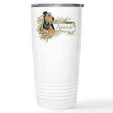 Vintage Airedale Travel Mug