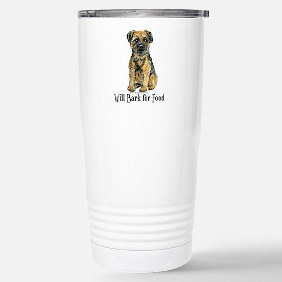 Border Terrier Bark Stainless Steel Travel Mug