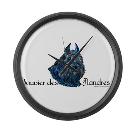 Bouvier des Flanders too Large Wall Clock