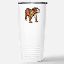 Bulldog by Cherry ONeil Stainless Steel Travel Mug