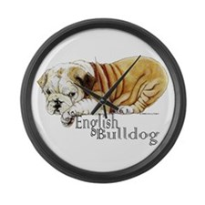Bulldog Puppy Large Wall Clock