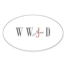 WWJD Oval Decal