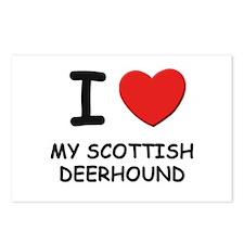 I love MY SCOTTISH DEERHOUND Postcards (Package of