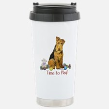 Welsh Terrier Playtime! Stainless Steel Travel Mug