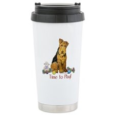 Welsh Terrier Playtime! Travel Mug