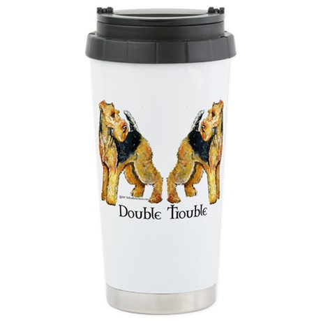 Welshie Double Trouble Stainless Steel Travel Mug