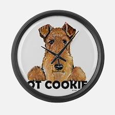 Irish Terrier Cookies Large Wall Clock