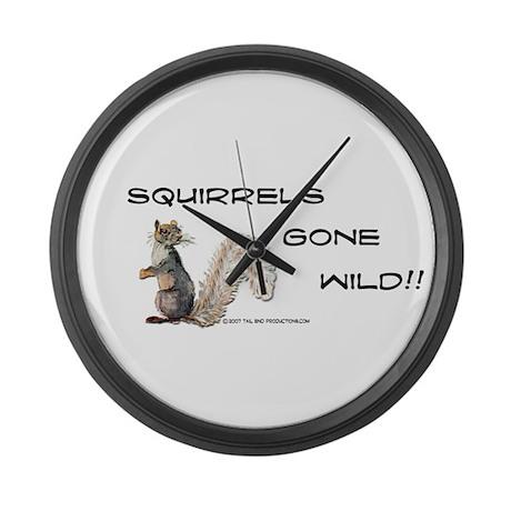 Wild Squirrel Large Wall Clock
