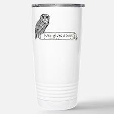 Hoot Owl Stainless Steel Travel Mug