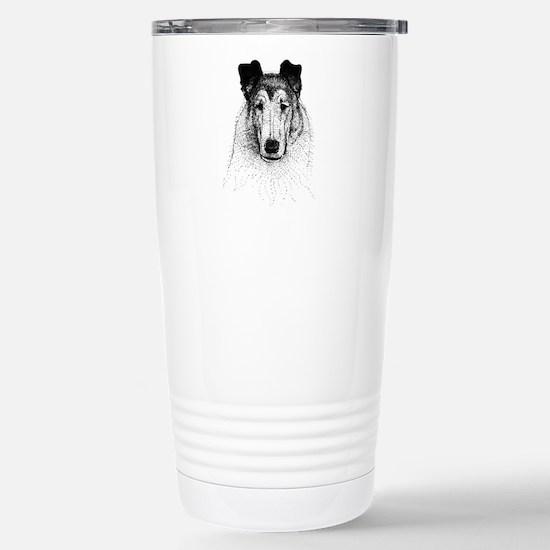 Smooth Collie Stainless Steel Travel Mug