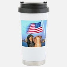 USA Dachshunds Travel Mug