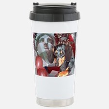 4th of July Dachshund Dog Travel Mug