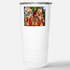 Christmas Bulb Dogs Travel Mug