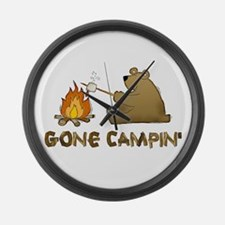 Gone Campin' Large Wall Clock