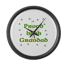 Proud Irish Grandad Large Wall Clock