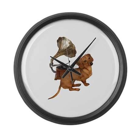 Antiques Dauchshunds Dogs Large Wall Clock