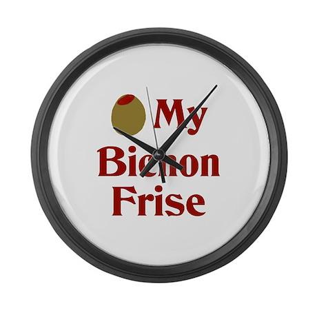 Olive My Bichon Frise Large Wall Clock