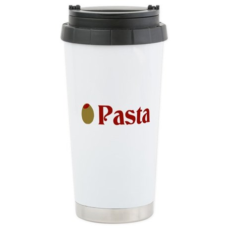 Olive (I Love) Pasta Stainless Steel Travel Mug