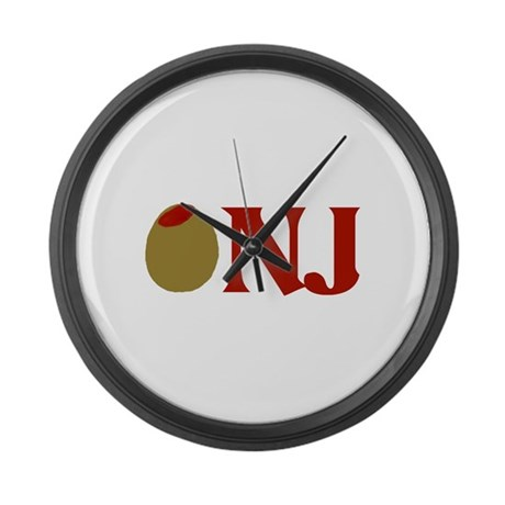 Olive (I Love) NJ Large Wall Clock